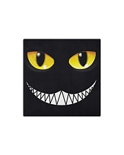 Evil Cat Smile Square Magnet thumbnail