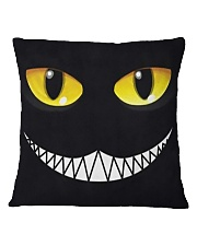 Evil Cat Smile Square Pillowcase thumbnail