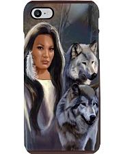 Wolf Spirit Art Poster Phone Case thumbnail
