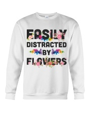 Easily distracted by flowers T-shirt Crewneck Sweatshirt thumbnail