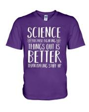 Science Better V-Neck T-Shirt front