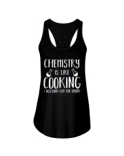Chemistry Is Like Cooking Ladies Flowy Tank front