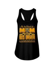 Mom Raised A Bus Driver  Ladies Flowy Tank front