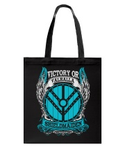 Victory Or Valhalla Shieldmaiden Tote Bag thumbnail