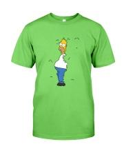 Homer hiding Classic T-Shirt front