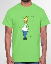 Homer hiding Classic T-Shirt garment-tshirt-unisex-front-03