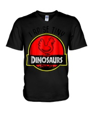 I Raise Tiny Dinosaurs - Chickens lover  V-Neck T-Shirt thumbnail