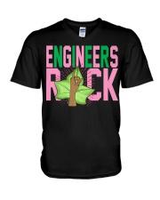 1908 - Pink and Green - AKA Engineer -  V-Neck T-Shirt thumbnail