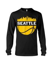Vintage Seattle Washington Cityscape Bask Long Sleeve Tee thumbnail