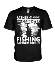 Father  Daughter-Fishing Partners For  V-Neck T-Shirt thumbnail