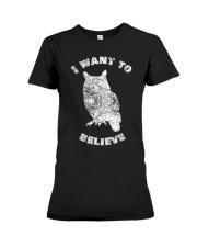 Owl Theory I Want to Believe True Crime Mu Premium Fit Ladies Tee thumbnail