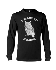 Owl Theory I Want to Believe True Crime Mu Long Sleeve Tee thumbnail