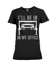 Garage is My Office T-Shirt Mechanic Gift Car Premium Fit Ladies Tee thumbnail