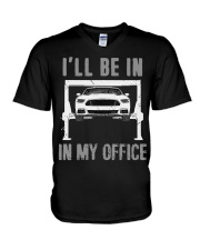 Garage is My Office T-Shirt Mechanic Gift Car V-Neck T-Shirt thumbnail