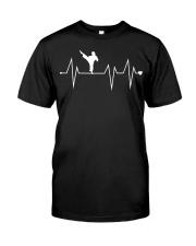 Funny Karate Fighter Shotokan Heartbeat  Classic T-Shirt thumbnail