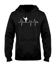 Funny Karate Fighter Shotokan Heartbeat  Hooded Sweatshirt thumbnail