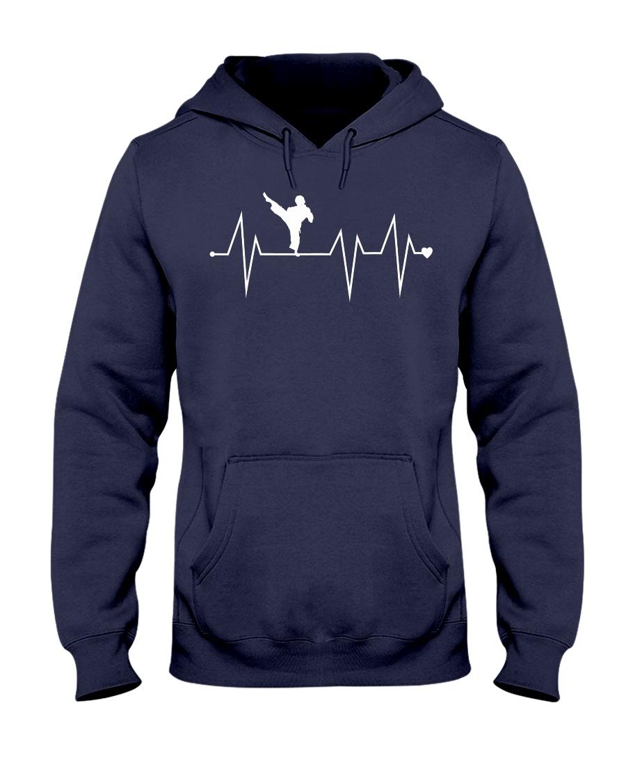 Funny Karate Fighter Shotokan Heartbeat  Hooded Sweatshirt