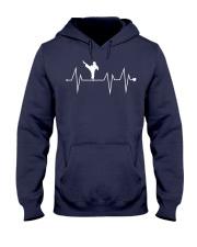 Funny Karate Fighter Shotokan Heartbeat  Hooded Sweatshirt front