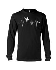Funny Karate Fighter Shotokan Heartbeat  Long Sleeve Tee thumbnail