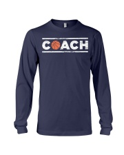Distressed Basketball C t Long Sleeve Tee front