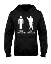 Womens Your Husband vs My Husband Army Wife  Hooded Sweatshirt thumbnail