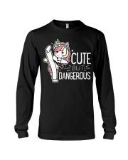 Cute Dangerous Karate Taekwondo Shirt Funny Long Sleeve Tee thumbnail