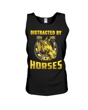 DISTRACTED BY HORSES  Funny Equine Design Unisex Tank thumbnail