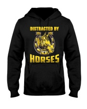 DISTRACTED BY HORSES  Funny Equine Design Hooded Sweatshirt thumbnail