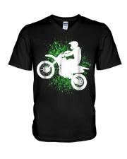 Motocross and Supercross T-Shirt V-Neck T-Shirt thumbnail