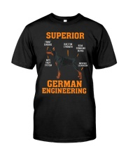 DOBERMANS Superior German Engineering I Gift Classic T-Shirt front