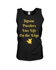 Funny Jigsaw Puzzle Player T-Shirt Live Li Unisex Tank thumbnail