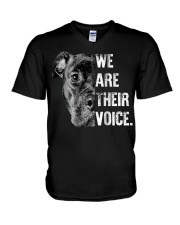 Love Pitbull  We Are Their Voice Long Sleeve  V-Neck T-Shirt tile