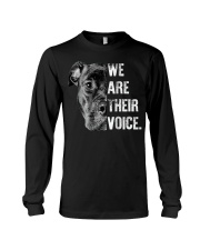 Love Pitbull  We Are Their Voice Long Sleeve  Long Sleeve Tee thumbnail