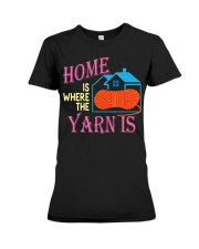 Funny Knitting Gifts for Women Home is Wher Premium Fit Ladies Tee thumbnail