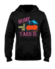 Funny Knitting Gifts for Women Home is Wher Hooded Sweatshirt thumbnail