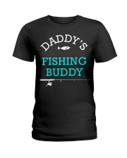 Daddys Fishing Buddy Shirt Cute Kids Gift Ladies T-Shirt thumbnail