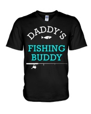 Daddys Fishing Buddy Shirt Cute Kids Gift V-Neck T-Shirt thumbnail