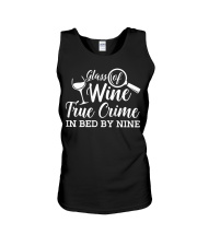 Womens Glass Of Wine True Crime In Bed B Unisex Tank thumbnail