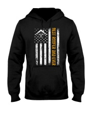 Vintage USA Best Roofer Dad Ever Americ Hooded Sweatshirt thumbnail