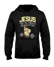Deadlift Jesus I Christian Weightli Hooded Sweatshirt thumbnail
