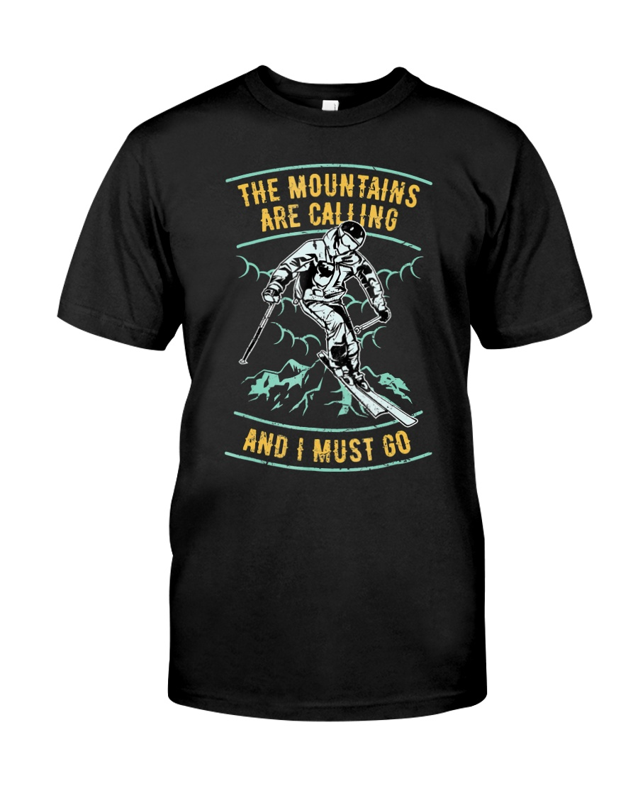 Vintage Ski Shirt - Mountains are calling S Classic T-Shirt