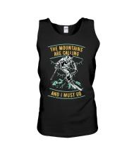 Vintage Ski Shirt - Mountains are calling S Unisex Tank thumbnail
