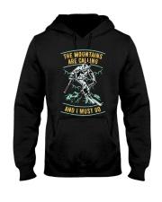 Vintage Ski Shirt - Mountains are calling S Hooded Sweatshirt thumbnail