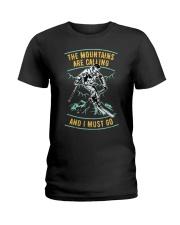 Vintage Ski Shirt - Mountains are calling S Ladies T-Shirt thumbnail
