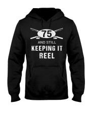 Funny Fishing 75th Birthday Gift Fisher Hooded Sweatshirt thumbnail