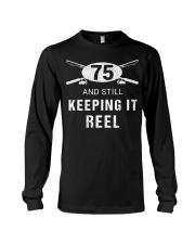 Funny Fishing 75th Birthday Gift Fisher Long Sleeve Tee thumbnail