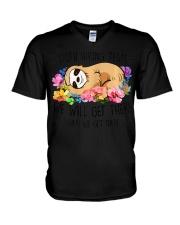 Sloth hiking team Tshirt gi V-Neck T-Shirt thumbnail