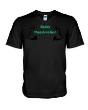 Motivational Body Under Construction Workout  V-Neck T-Shirt thumbnail