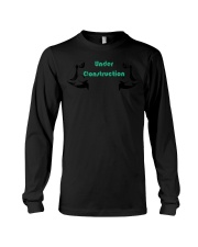 Motivational Body Under Construction Workout  Long Sleeve Tee front