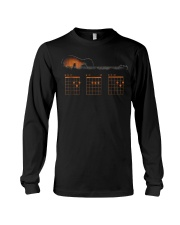 Funny Guitar Dad Chord Shirt Father's Day Gif Long Sleeve Tee thumbnail